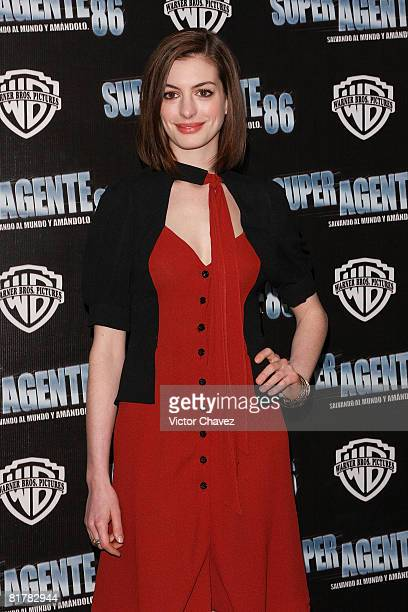 Actress Anne Hathaway attends the 'Get Smart' photo call at Hotel Four Seasons on June 25 2008 in Mexico City Mexico
