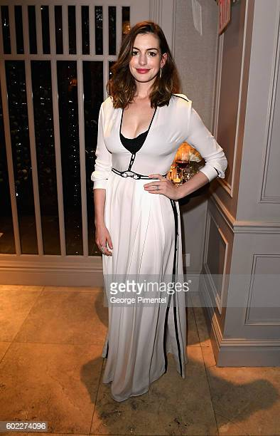 Actress Anne Hathaway attends the Hollywood Foreign Press Association and InStyle's annual celebration of the Toronto International Film Festival at...