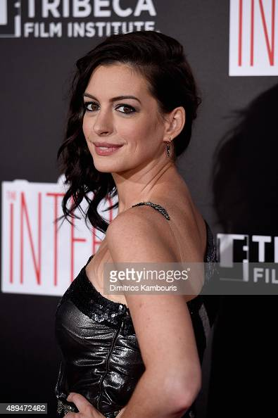Actress Anne Hathaway attends 'The Intern' New York Premiere at Ziegfeld Theater on September 21 2015 in New York City