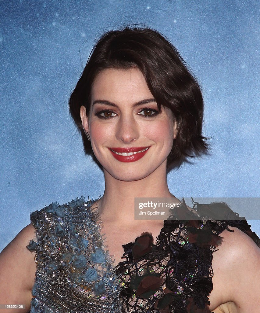 Actress Anne Hathaway attends the 'Interstellar' New York Premiere at AMC Lincoln Square Theater on November 3, 2014 in New York City.