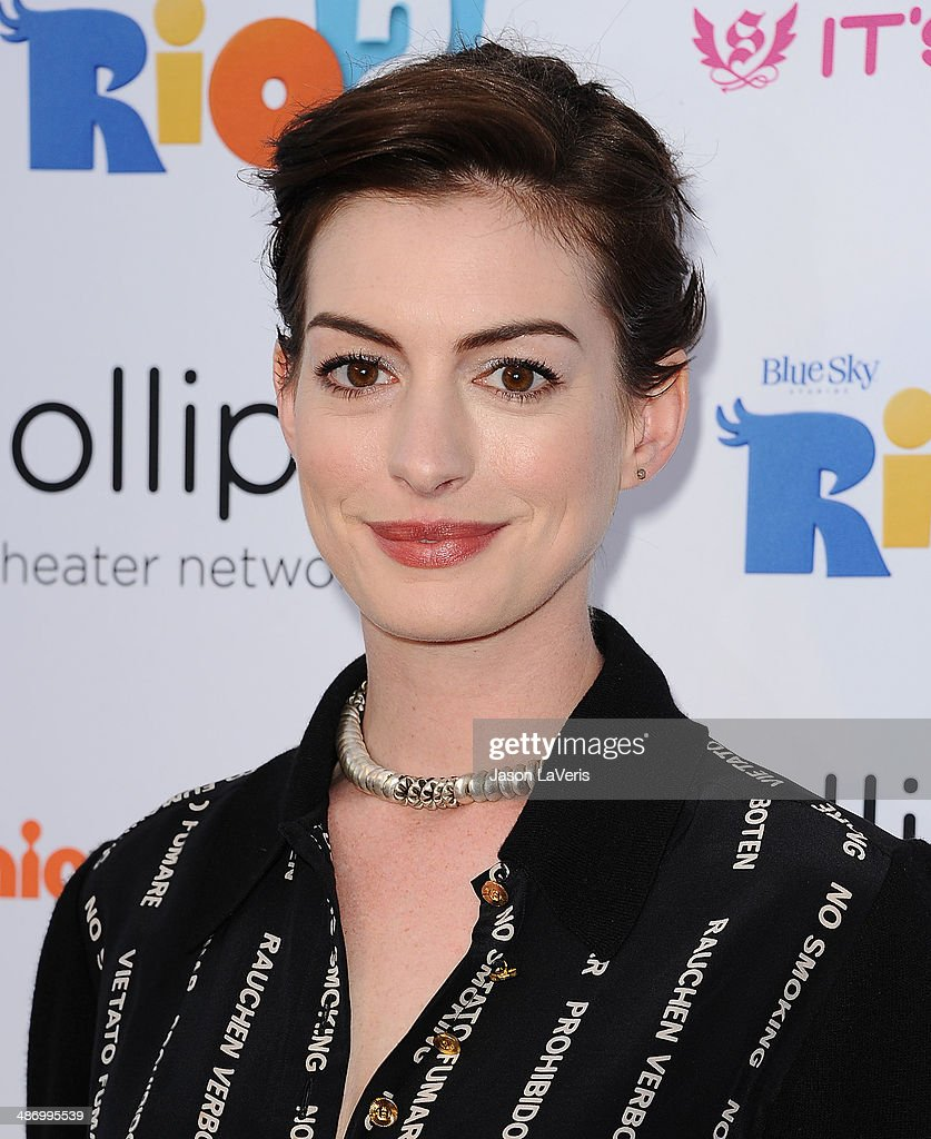 Actress <a gi-track='captionPersonalityLinkClicked' href=/galleries/search?phrase=Anne+Hathaway+-+Actress&family=editorial&specificpeople=11647173 ng-click='$event.stopPropagation()'>Anne Hathaway</a> attends the Lollipop Theater Network's A Night Under The Stars at Nickelodeon Animation Studio on April 26, 2014 in Burbank, California.