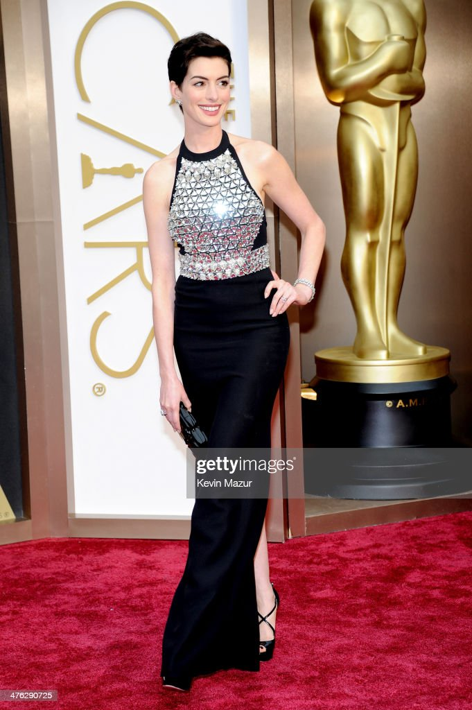 Actress <a gi-track='captionPersonalityLinkClicked' href=/galleries/search?phrase=Anne+Hathaway+-+Actress&family=editorial&specificpeople=11647173 ng-click='$event.stopPropagation()'>Anne Hathaway</a> attends the Oscars held at Hollywood & Highland Center on March 2, 2014 in Hollywood, California.