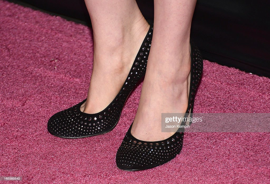 Actress Anne Hathaway attends The Pink Party 2013 at Barker Hangar on October 19, 2013 in Santa Monica, California.