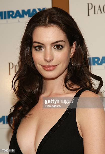 Actress Anne Hathaway attends the premiere of 'Becoming Jane' presented by Miramax at the Landmark Sunshine Cinema July 24 2007 in New York City