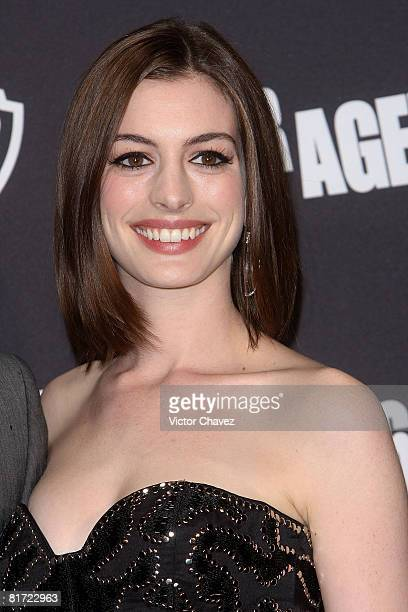 Actress Anne Hathaway attends the premiere of 'Get Smart' at the Cinemark Polanco on June 25 2008 in Mexico City
