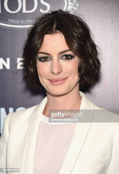 Actress Anne Hathaway attends the premiere of the Film Arcade Cinedigm's 'Song One' hosted by the Cinema Society Tod's at Landmark's Sunshine Cinema...