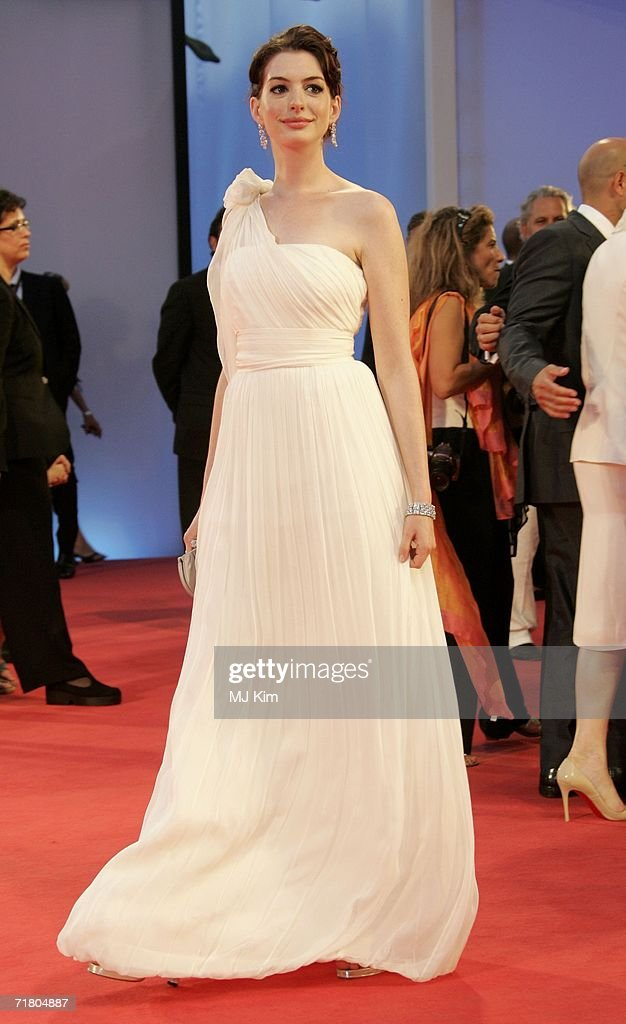 Actress Anne Hathaway attends the premiere of the film 'Devil Wears Prada' during the ninth day of the 63rd Venice Film Festival on September 7 2006...