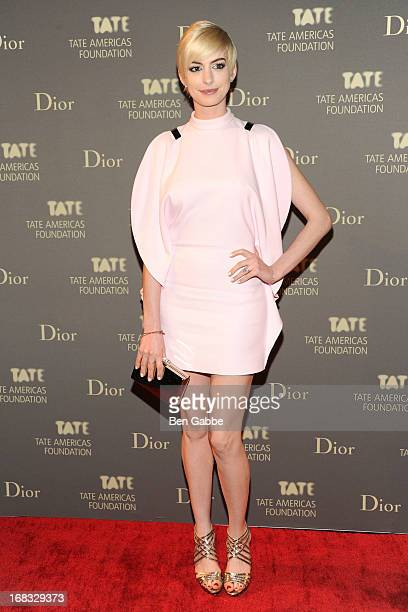 Actress Anne Hathaway attends the Tate Americas Foundation Artists Dinner at Skylight at Moynihan Station on May 8 2013 in New York City