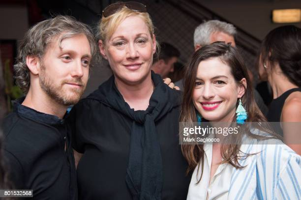Actress Anne Hathaway attends TriStar Pictures The Cinema Society and Avion's screening of 'Baby Driver' at The Metrograph on June 26 2017 in New...