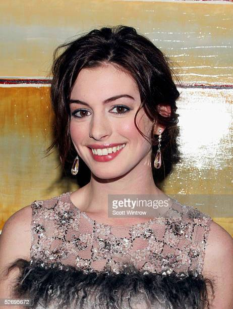 Actress Anne Hathaway is honored at The Barrow Group's 11th Annual Celebrity Scribbles and Doodle's Auction sponsored by Gran Centenario Tequilla on...