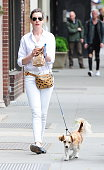 Actress Anne Hathaway is seen in SoHo on May 13 2015 in New York City