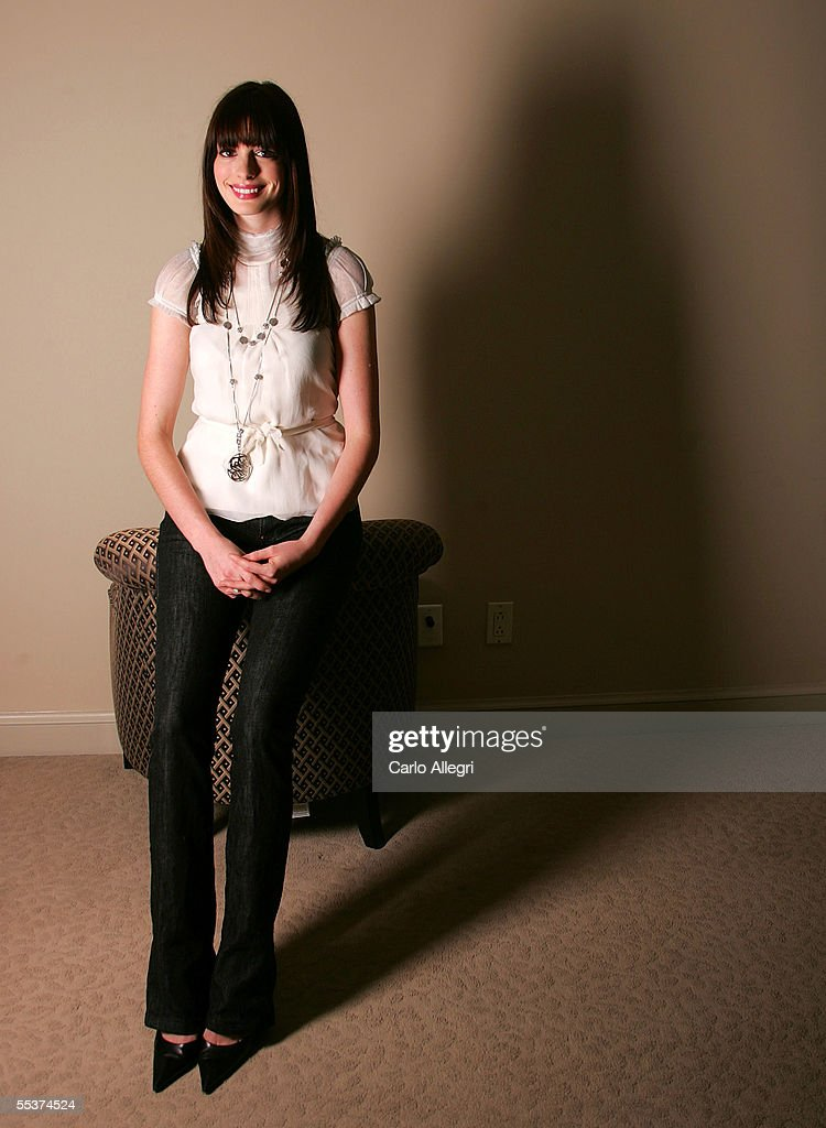 Actress Anne Hathaway poses for a portrait while promoting his film 'Brokeback Mountain' at the Toronto International Film Festival September 10 2005...