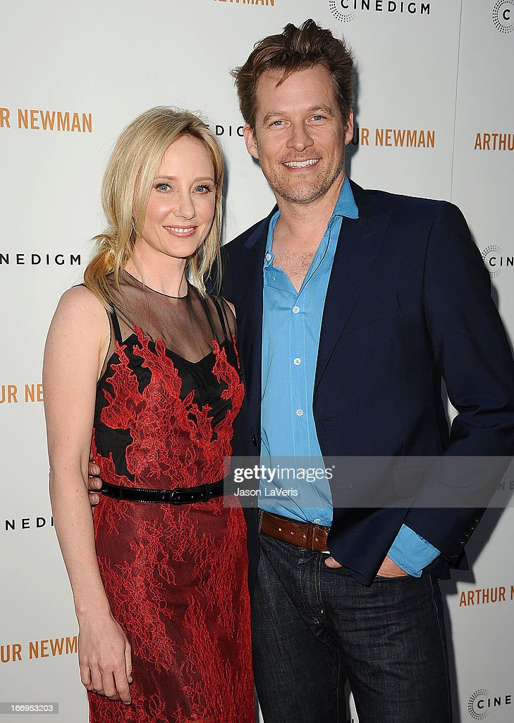 Actress Anne Heche and actor James Tupper attend the premiere of 'Arthur Newman' at ArcLight Hollywood on April 18, 2013 in Hollywood, California.