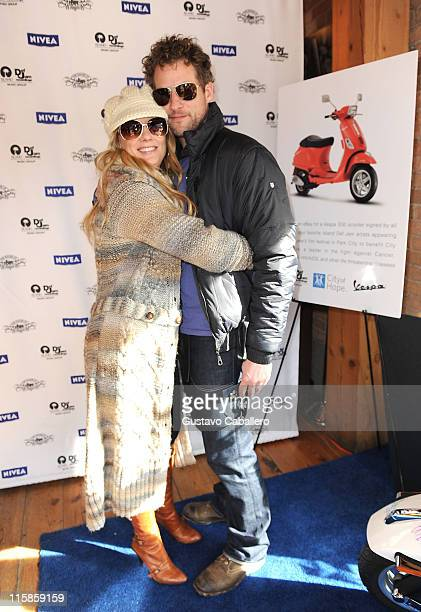 Actress Anne Heche and actor James Tupper visit the Island Def Jam House of Hype Hospitality Suite on January 17 2009 in Park City Utah