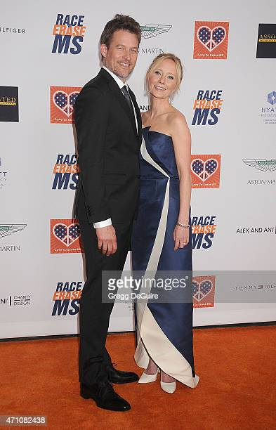 Actress Anne Heche and James Tupper arrive at the 22nd Annual Race To Erase MS at the Hyatt Regency Century Plaza on April 24 2015 in Century City...