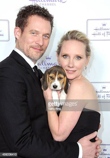 Actress Anne Heche and James Tupper arrive at the Hallmark Hall Of Fame 'One Christmas Eve' Los Angeles premiere at Fig Olive Melrose Place on...