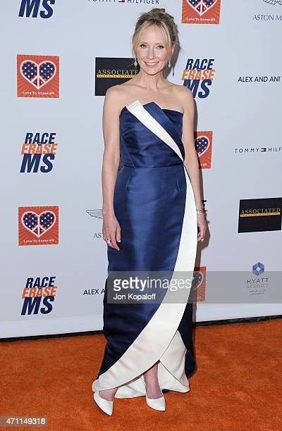 Actress Anne Heche arrives at the 22nd Annual Race To Erase MS at the Hyatt Regency Century Plaza on April 24 2015 in Century City California