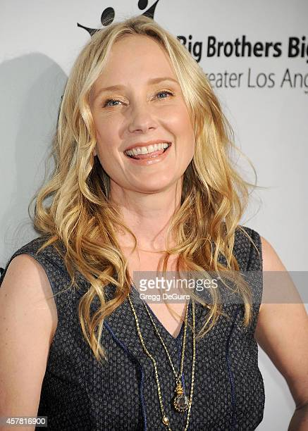 Actress Anne Heche arrives at the Big Brothers Big Sisters Big Bash at The Beverly Hilton Hotel on October 24 2014 in Beverly Hills California
