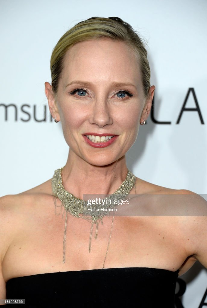 Actress <a gi-track='captionPersonalityLinkClicked' href=/galleries/search?phrase=Anne+Heche&family=editorial&specificpeople=202988 ng-click='$event.stopPropagation()'>Anne Heche</a> arrives at The Hollywood Reporter's Emmy Party at Soho House on September 19, 2013 in West Hollywood, California.