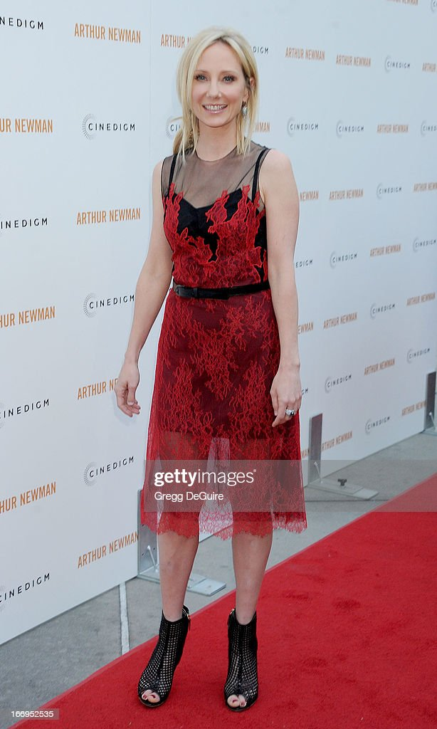 Actress Anne Heche arrives at the Los Angeles premiere of 'Arthur Newman' at ArcLight Hollywood on April 18, 2013 in Hollywood, California.