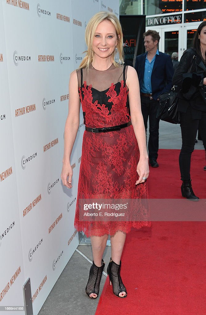 Actress Anne Heche attend the premiere of Cinedigm's 'Arthur Newman' at ArcLight Hollywood on April 18, 2013 in Hollywood, California.
