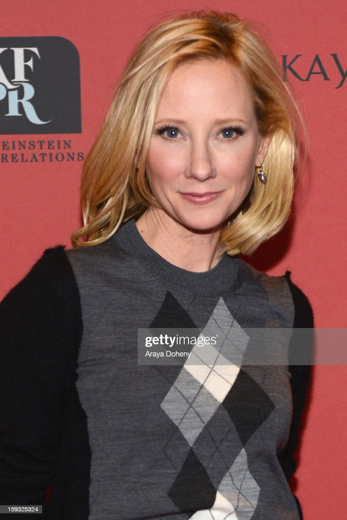 Actress <a gi-track='captionPersonalityLinkClicked' href=/galleries/search?phrase=Anne+Heche&family=editorial&specificpeople=202988 ng-click='$event.stopPropagation()'>Anne Heche</a> attends Kari Feinstein's Pre-Golden Globes Style Lounge at the W Hollywood on January 11, 2013 in Hollywood, California.