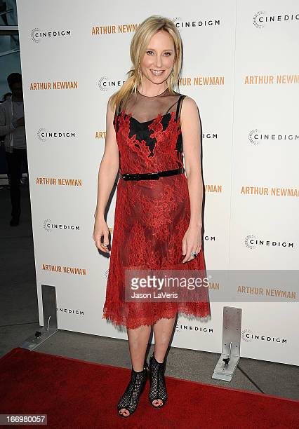 Actress Anne Heche attends the premiere of 'Arthur Newman' at ArcLight Hollywood on April 18 2013 in Hollywood California