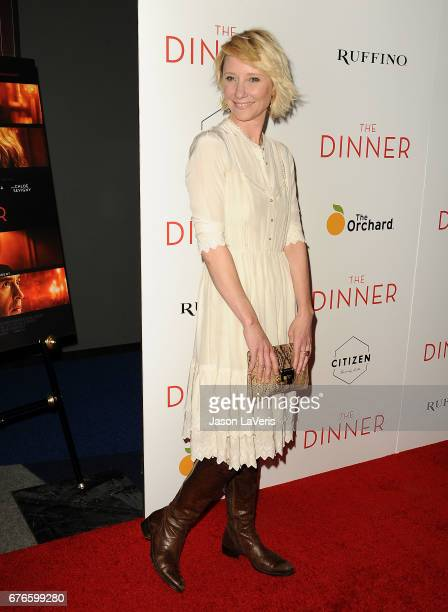 Actress Anne Heche attends the premiere of 'The Dinner' at Writers Guild Theater on May 1 2017 in Beverly Hills California