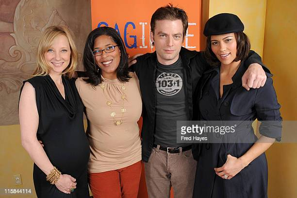 Actress Anne Heche Darrien Michele Gipson Justin Kirk and Paula Patton attend the SAG Indie Brunch at the Racquet Club Theatre during 2009 Sundance...