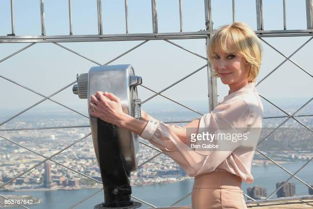 Actress Anne Heche visits The Empire State Building to promote the show 'The Brave' on September 25 2017 in New York City
