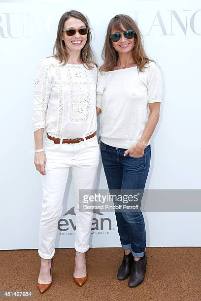 Actress Anne Marivin and Axelle Laffont attend the 'Brunch Blanc' hosted by Barriere Group Held on Yacht 'Excellence' on June 29 2014 in Paris France