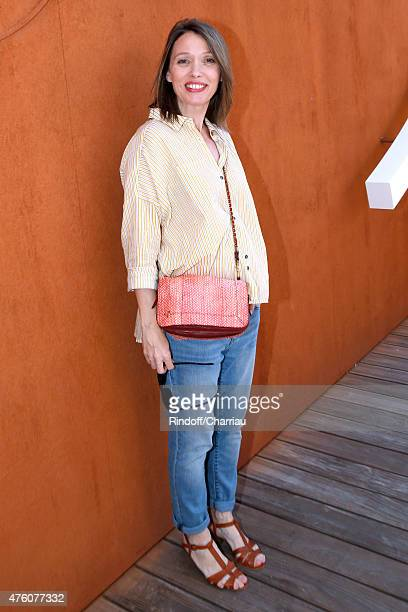 Actress Anne Marivin attends the 2015 Roland Garros French Tennis Open Day Fourteen on June 6 2015 in Paris France
