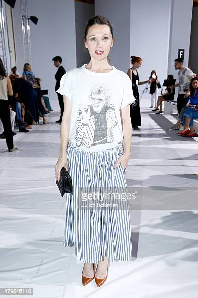 Actress Anne Marivin attends the George Hobeika show as part of Paris Fashion Week Haute Couture Fall/Winter 2015/2016 at Palais De Tokyo on July 6...