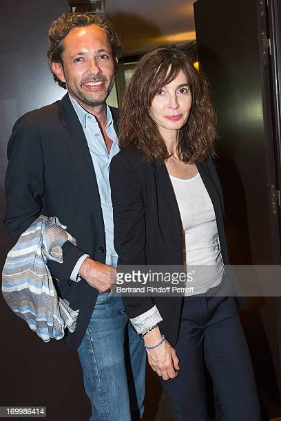 Actress Anne Parillaud and film distributor JeanPhilippe Tirel attend a cocktail party at Hotel Fouquet's Barriere following the premiere of the film...