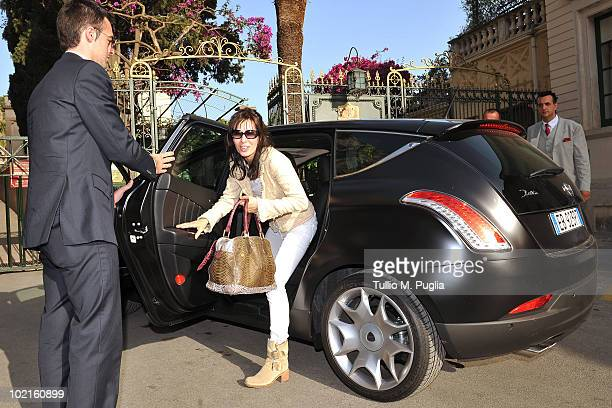 Actress Anne Parillaud arrives at Taormina Film Fest 2010 on June 16 2010 in Taormina Italy