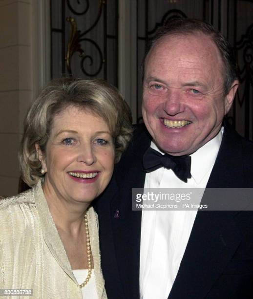 Actress Anne Reid with actor James Bolam at the Compassion in World Farming gala fundraising dinner at Grosvenor House Hotel in London's Park Lane