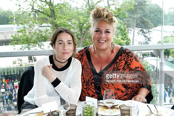 Actress Annelise Hesme and singer Marianne James attend the 'France Television' Lunch during Day Fifteen Men single's Final of the 2016 French Tennis...