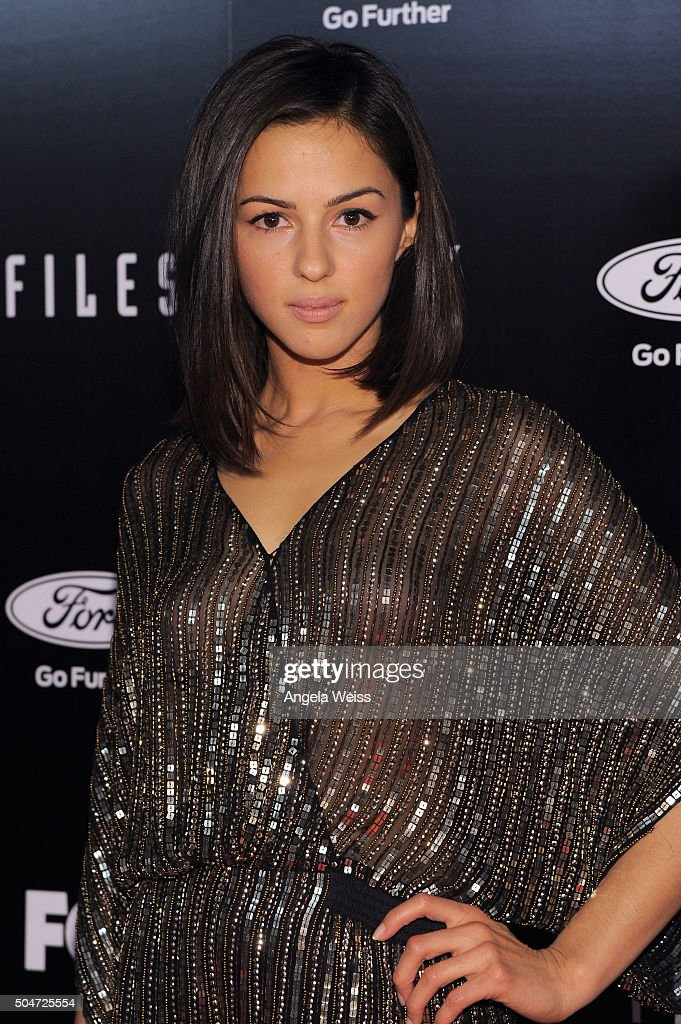 Actress Annet Mahendru attends the premiere of Fox's 'The XFiles' at California Science Center on January 12 2016 in Los Angeles California