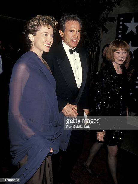Actress Annette Bening actor Warren Beatty and actress Shirley MacLaine the 22nd Annual American Film Institute Lifetime Achievement Award Salute to...