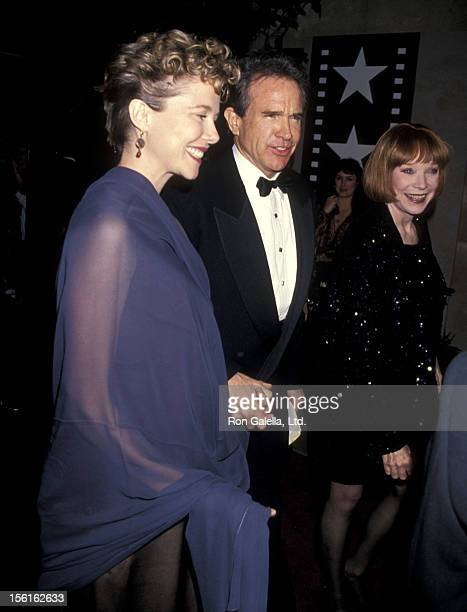 Actress Annette Bening actor Warren Beatty and actress Shirley MacLaine attend the 22nd Annual American Film Institute Lifetime Achievement Award...