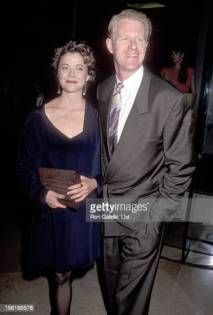 Actress Annette Bening and actor Ed Begley Jr attend the 49th Annual Golden Globe Awards on January 19 1991 at Beverly Hilton Hotel in Beverly Hills...