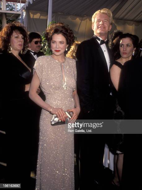 Actress Annette Bening and actor Ed Begley Jr attend the 63rd Annual Academy Awards on March 25 1991 at Shrine Auditorium in Los Angeles California