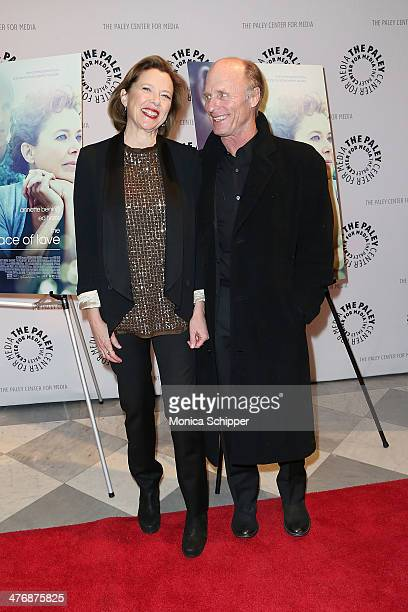 Actress Annette Bening and actor Ed Harris attend 'The Face Of Love' premiere at The Paley Center for Media on March 5 2014 in New York City