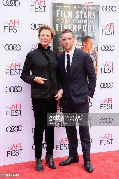 Actress Annette Bening and actor Jamie Bell attend the screening of 'Film Stars Don't Die In Liverpool' at AFI FEST 2017 Presented By Audi at TCL...