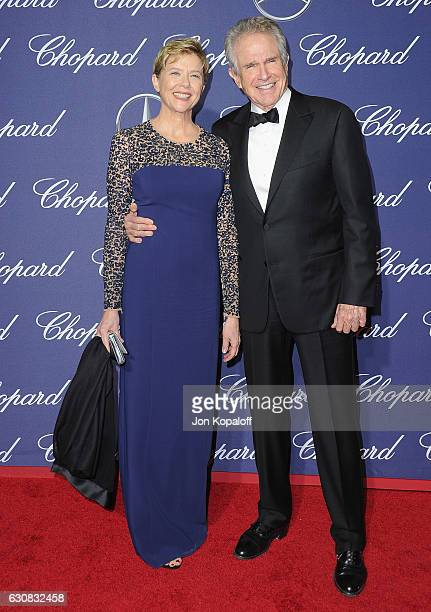 Actress Annette Bening and actor Warren Beatty arrive at the 28th Annual Palm Springs International Film Festival Film Awards Gala at Palm Springs...