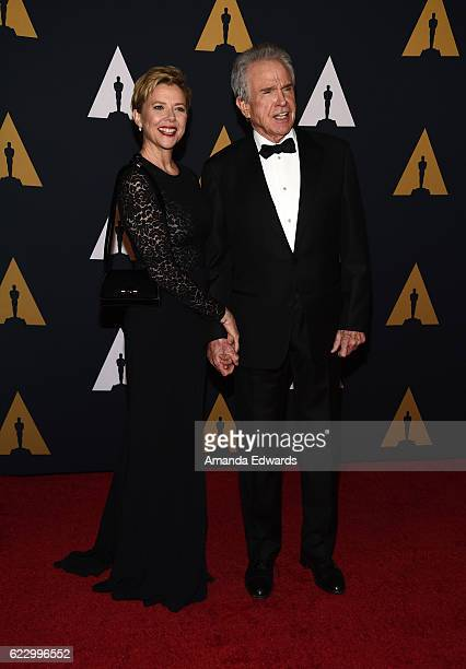 Actress Annette Bening and actor Warren Beatty arrive at the Academy of Motion Picture Arts and Sciences' 8th Annual Governors Awards at The Ray...