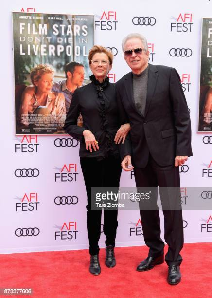 Actress Annette Bening and actor Warren Beatty arrive at the AFI FEST 2017 Presented By Audi screening of 'Film Stars Don't Die In Liverpool' at TCL...