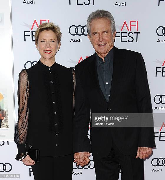 Actress Annette Bening and actor Warren Beatty attend a screening of '20th Century Women' at the 2016 AFI Fest at TCL Chinese Theatre on November 16...