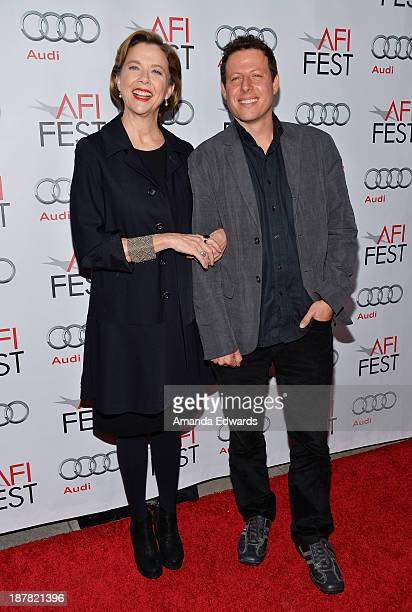 Actress Annette Bening and director Arie Posin arrive at the AFI FEST 2013 Presented By Audi Spotlight On Annette Bening event at the Egyptian...