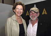 Actress Annette Bening and director Norman Jewison attend the 'Perfect Choice The ART Of The Casting Director' at Samuel Goldwyn Theater on April 13...